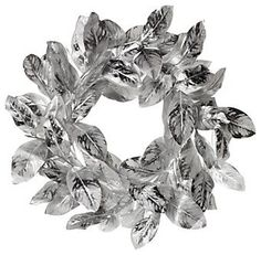 Silver Magnolia Wreath  Z Gallerie  (May have to try this at home!)
