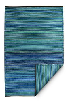 AmazonSmile : Fab Habitat Cancun Indoor/Outdoor Rug, Turquoise & Moss Green, (5' x 8') : Area Rugs : Patio, Lawn & Garden