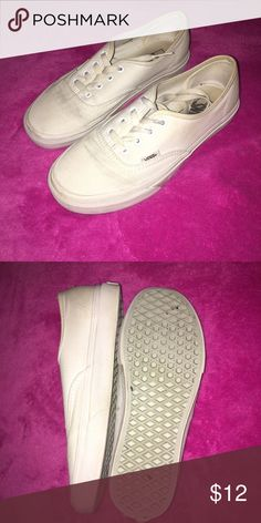 All white Vans Used Vans Shoes