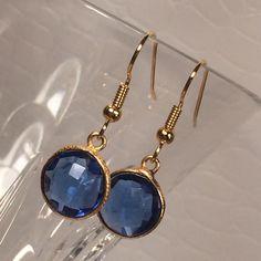 Capri Blue quartz earrings by IrkaDesign on Etsy