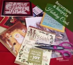 Ways to Repurpose and Recycle Holiday Cards - Mission: to Save