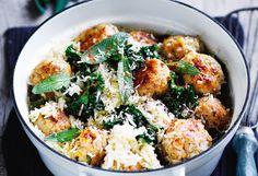 One Pot Meatballs-Reis mit Kohl One Pot, Kohls, Potato Salad, Potatoes, Meat, Cooking, Ethnic Recipes, Food, Rice Dishes