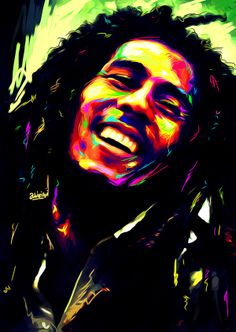 Bob Marley by James Abinibi, In the US/UK? Get your face digitally painted too at http://afrodreaming.com/store.html