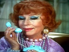 Hanging on the telephone Endora Bewitched, Agnes Moorehead, Turquoise Necklace, Pearl Necklace, Classy, Actresses, Elegant, Telephone, Beautiful