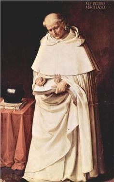 """""""Brother Pedro Machado"""", 17th C., by Francisco de Zurbarán (Spanish, 1598-1664)."""