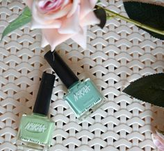 Nykaa Pastel Nail Enamels Hasta La Pista, Mint Meringue Review and Swatches. Start Spring Summer 2016 with these colors !