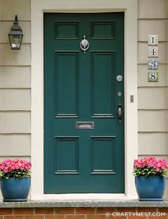 Be Different...Act Normal - Printable house numbers! ;). Teal Front DoorsFront ... & 12 Colorful Front Doors | Pinterest | Front doors Bald hairstyles ...
