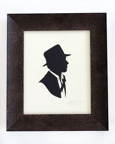 Silhouettes from Popular Culture series by Olly Moss (Indiana Jones)