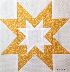 Rising Star Quilt Block