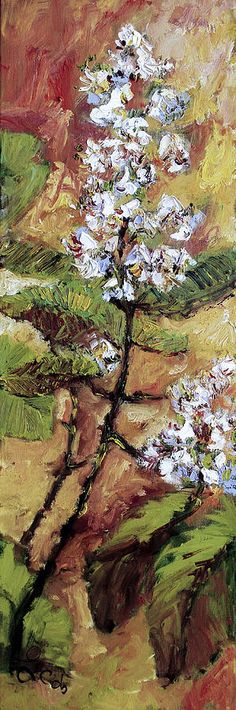#Autumn #Fall #Chestnut #Blossoms #Floral #Painting in #Oil by #Artist #Ginette #Callaway #GinetteCallaway