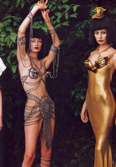 saloandseverine: Vogue US September 1997, Fashion's Frontier Shalom Harlow unk in Dior by John Galliano by Annie Leibovitz