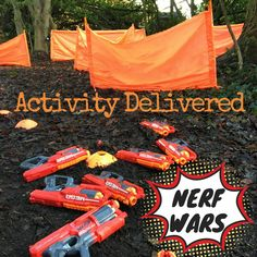 Nerf Wars can be played indoors or outdoors with jolt guns or mega guns...either way, the kids ALWAYS have a blast! #nerfwars #activitydelivered #party #birthday #nerfparty #nerfscotland #nerfedinburgh #nerfglasgow #welovenerf #meganerf #joltnerf #inside #outside