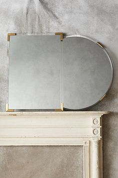 Brass-Capped Mirror