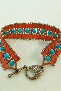 Southwestern Colors Bracelet. $40.00, via Etsy.