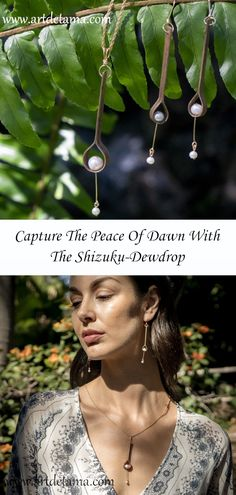 Japanese artist creates wearable art that brings inner peace and calmness. Her designs are quiet and minimalist. Each piece is individually handcrafted. Custom Jewelry, Jewelry Art, Fine Jewelry, Jewelry Making, Jewelry Accessories, Unique Jewelry, Artisan Jewelry, Handcrafted Jewelry, Gifts For An Artist