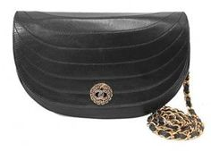 very good (VG) Chanel Black Half Moon Quilted Lambskin Classic Medallion Flap Bag on shopstyle.com