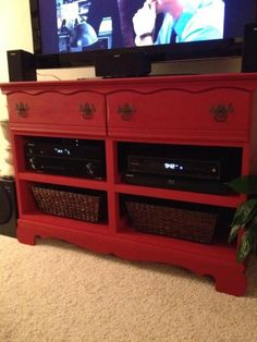dresser to entertainment center