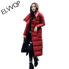 Down Jacket Women 2018 New Luxury Long Down Jacket Casual Loose White Duck Down Coat Thick Warm Oversized Female Parka >> Click picture for details << White Ducks, Jackets For Women, Clothes For Women, Duck Down, Down Coat, Parka, Fur Coat, Winter Jackets, Female