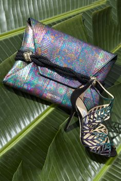 This holographic snakeskin is a must!