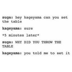 oh kageyama #haikyuu #kageyama #sugawara