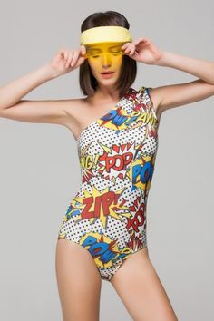 One side swimsuit from Front Row Shop