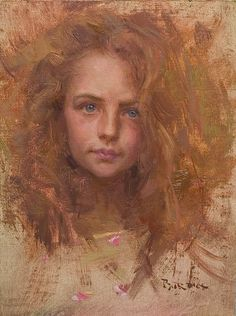 Portrait by Scott  Burdick, Chicago born artist (b.1967), currently living in the mountains of NC