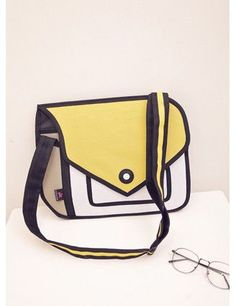 Creative Women 3D Jump Drawing Cartoon Comic Shoulder Bags.2D Stereoscopic Chic Handbag.'s Mixed Colors Messenger Bag
