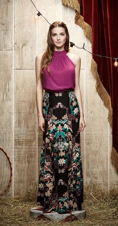 6fc2cc203 22 Best saias longas images | Full skirts, Party Dress, Dress