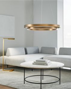 Grace 36, Aged BrassDessau 46 Floor Lamp, Natural Brass Family Room Lighting, Contemporary Chandelier, Weathered Oak, Cutting Tables, Led Chandelier, Led Technology, Room Lights, Your Space, Floor Lamp