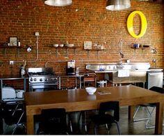 Idées de conception des murs de cuisine en briques ~ Décor de Maison / Décoration Chambre