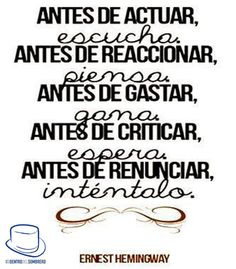 Quote by Hemingway translated to Spanish