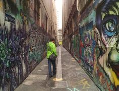 The street art lanes of Melbourne.