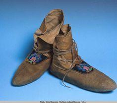 Smoked moosehide moccasins. :: Alaska State Museums-Sheldon Jackson Museum-Sitka