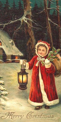 Antique Christmas post card