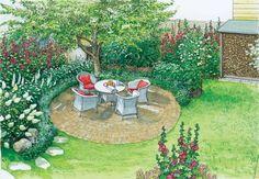Gartengestaltung romantischer Sitzplatz