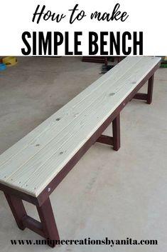 How to make a simple bench #bench #diy #diyproject #diy ideas #picnicbench #outdoorfurniture #patiofurniture #seat #woodenbench #benchseat #diyrepurposed #handmade #unicornspit #unicornspitideas #diyhomedecor