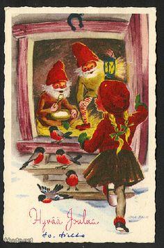 Irma Salmi Vintage Christmas, Christmas Cards, Merry Christmas, Xmas, Best Relationship Advice, Scandinavian Christmas, Christmas Inspiration, Vintage Cards, Elves