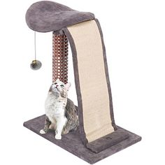 Cat-Life Lounging Tower Cat Furniture with Sisal Slide