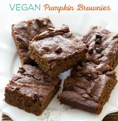 These easy Pumpkin Brownies are a delicious and decadent treat for fall! This pumpkin-infused recipe is a welcome spin on a classic fudgy, moist brownie.