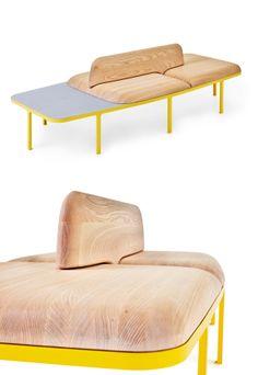 #bench with back PLYMÅ by Nola Industrier | #design Mattias Stenberg #wood
