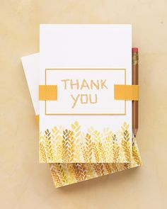 Thank-You Cards How-To - Martha Stewart Weddings Inspiration