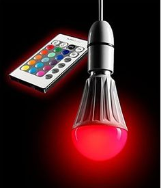 AURAGLOW Ferngesteuertes 10 W LED-Leuchtmittel mit Farbwechsel E27, Superhelle Dimmbare Warmes Weiss Version - 2te Generation