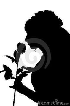 silhouette-woman-wedding-dress-rose-19541548.jpg (598×900)