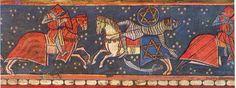Pintura gótica en Aragón: 2) Estilo Francogótico o Gótico Lineal. Maleficarum, Pegasus, Warfare, My World, Unicorns, Christian, Horses, Painting, Gothic Art