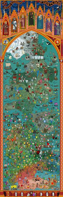 Map of the Seven Kingdoms of Westeros by geekstyleguide, via Flickr