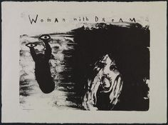 David Lynch Woman with Dream 2007 Lithograph on Japanese Bunko-Shi paper, 66 x 98 cm