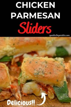 Chicken Parmesan Sliders is such an easy and delicious chicken parmesan recipe. Tender chicken, marinara, fresh mozzarella on delicious slider buns. An easy weeknight dinner you will want to make over and over again.  Pin for Later! Chicken Marinara, Slider Buns, Chicken Parmesan Recipes, Breaded Chicken, Chicken Tenders, Fresh Mozzarella, Easy Weeknight Dinners, Yum Yum Chicken, Quick Dessert Recipes