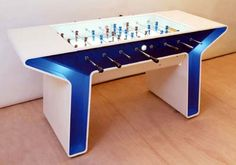 Designed by Dutch firm, Springtime Industrial Design, this extrusion shaped modernist table was produced for the Italian manufacturer, Garlando. Baby Foot, Bedroom Doors, Table Games, Table Plans, Game Room, Spring Time, Kids Playing, Man Cave, Arcade