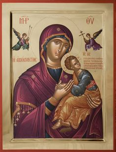 iconsalevizakis Byzantine Icons, Byzantine Art, Orthodox Christianity, Blessed Virgin Mary, Religious Icons, Orthodox Icons, Fresco, Madonna, Jesus Christ