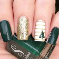 If you are looking for some Christmas green nail art ideas. We have Collected elegant Christmas nail art ideas for you. If you are looking for some Christmas green nail art ideas. We have Collected elegant Christmas nail art ideas for you. Christmas Tree Nails, Xmas Nails, Holiday Nails, Fun Nails, Christmas Nails Glitter, Christmas Manicure, Seasonal Nails, Valentine Nails, Xmas Trees